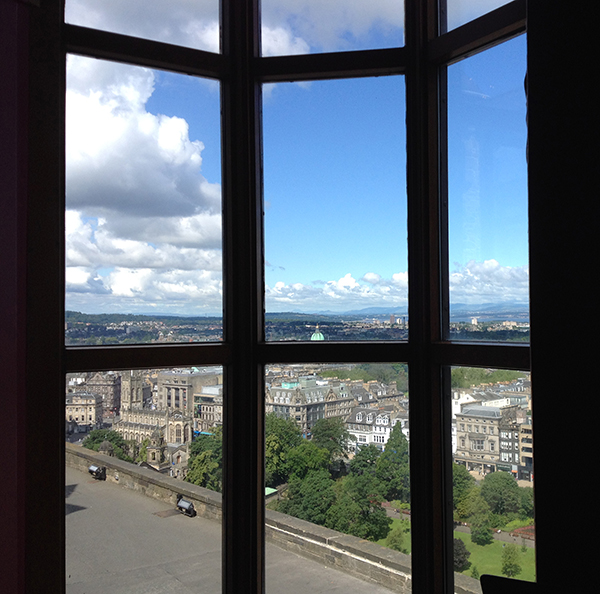 View from Edinburgh Castle's Redcoat Cafe