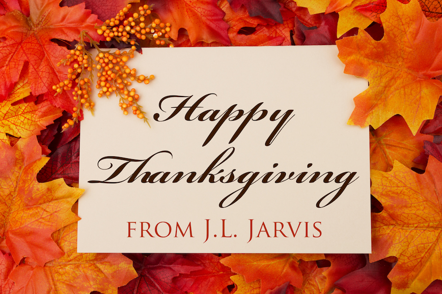 Card: Happy Thanksgiving from J.L. Jarvis