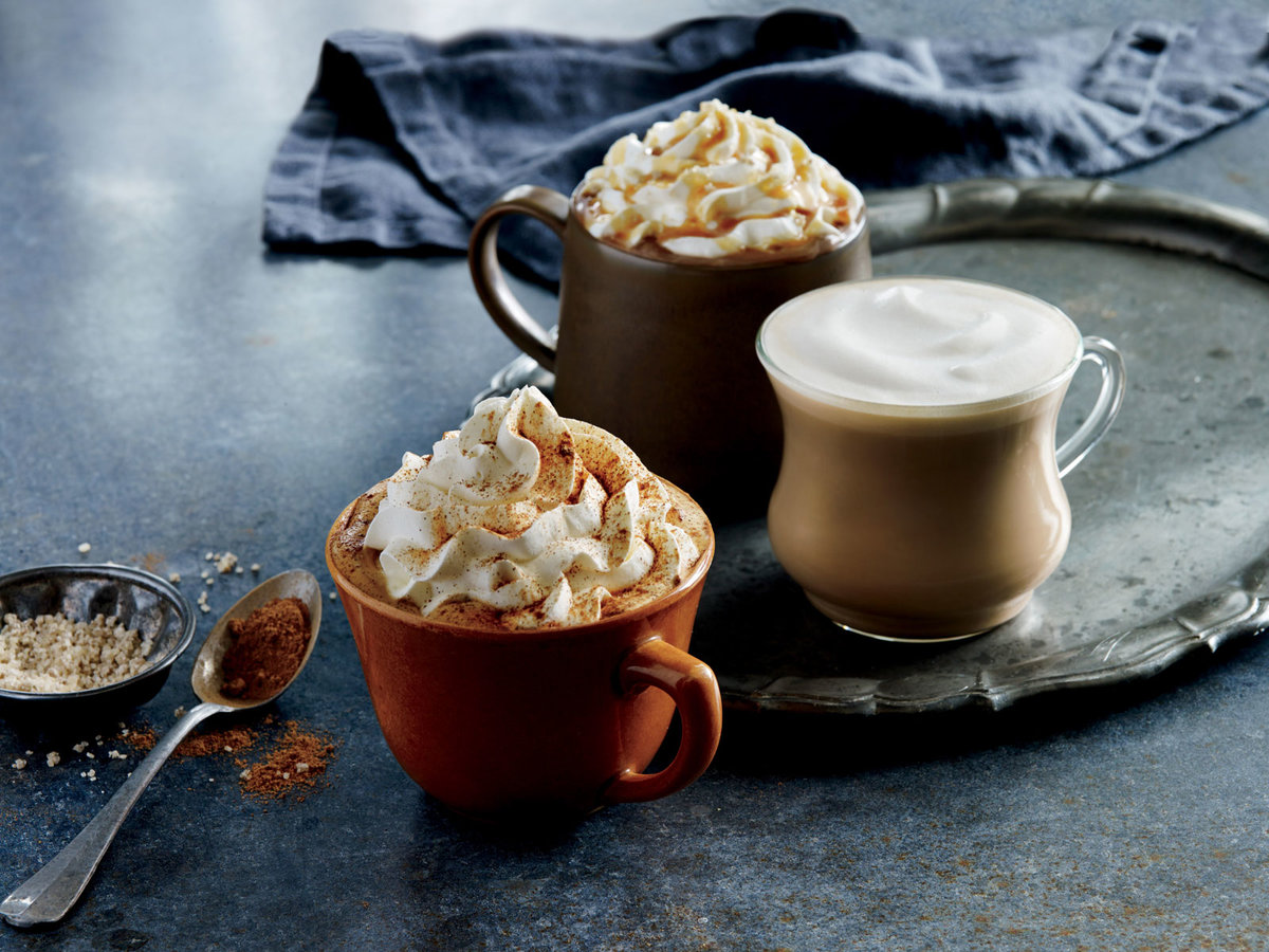 Starbucks pumpkin drinks