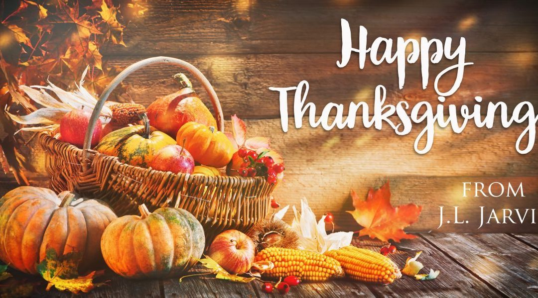 I'm thankful for family, friends, and readers!