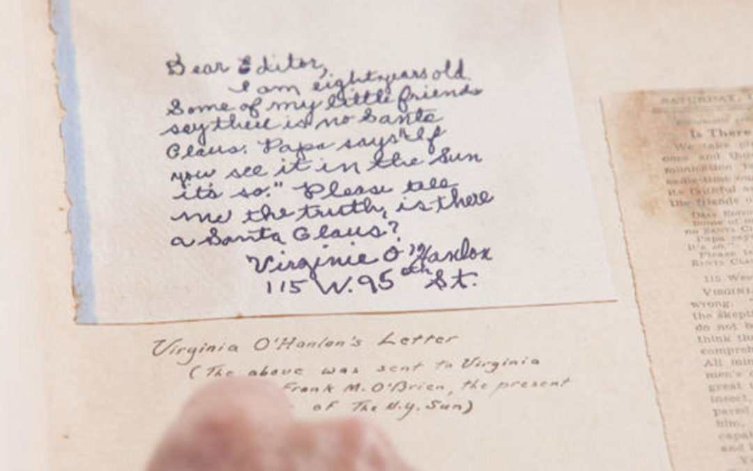 """""""Yes, Virginia"""": The story behind the letter about Santa Claus – CBS News"""