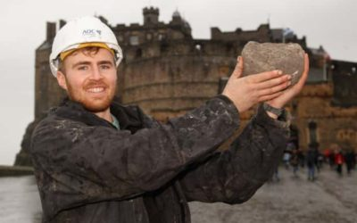 Catapult ball fired at Edinburgh Castle in 13th century siege discovered in hotel site dig – The Scotsman