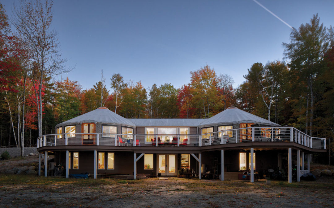 Maine Yurt Living – Living in the Round | Maine Homes by Down East